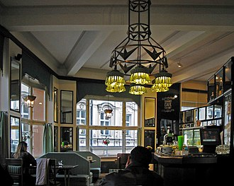 House of the Black Madonna - The Grand Café Orient restaurant on the first floor