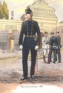 Illustration d'un polytechnicien en Grand Uniforme, 1921.