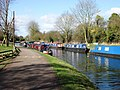 Grand Union Canal, Narrowboat Moorings at the Tring Summit, Bulbourne - geograph.org.uk - 1515110.jpg