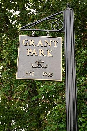 Grant Park, Atlanta - Image: Grant Park sign