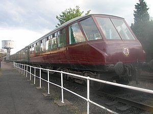 The Coronation (train) - One of the 'beaver-tail' observation cars used on The Coronation, in rebuilt form at the Great Central Railway