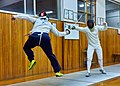Greek Epee Fencers. Evening training with fencers from other clubs at Athenaikos Fencing Club.jpg