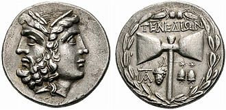 "Tenedos - Ancient silver Tetradrachm from Tenedos, depicting Zeus and Hera and bearing the inscription ""Τενεδίων"" (Tenedion) on the other side."