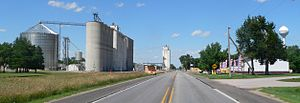 Greenwood, Nebraska - Greenwood, seen from the southwest along U.S. Highway 6