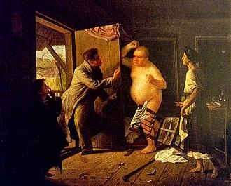 The Tale of How Ivan Ivanovich Quarreled with Ivan Nikiforovich - Scene from the story by Sergei Gribkov