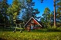Grill, grass and red swedish cottage, Fjärdlång, Stockholm (Sweden) - panoramio.jpg