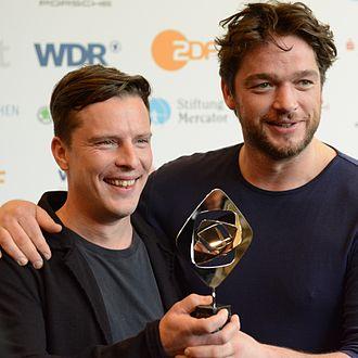 Grimme-Preis - Grimme-Preis 2014 - actors Florian Panzner and Ronald Zehrfeld