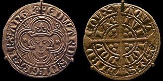 Groat (coin) - Image: Groat of Edward I 4 pences