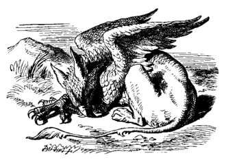 Gryphon (Alice's Adventures in Wonderland) - The Gryphon, illustrated by John Tenniel