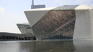 Guangzhou Opera House building in Guangzhou, China