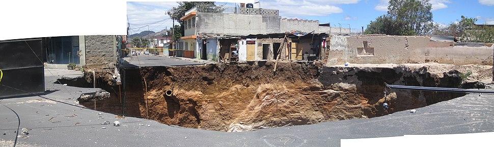 Guatemala city sinkhole 2007 composite view