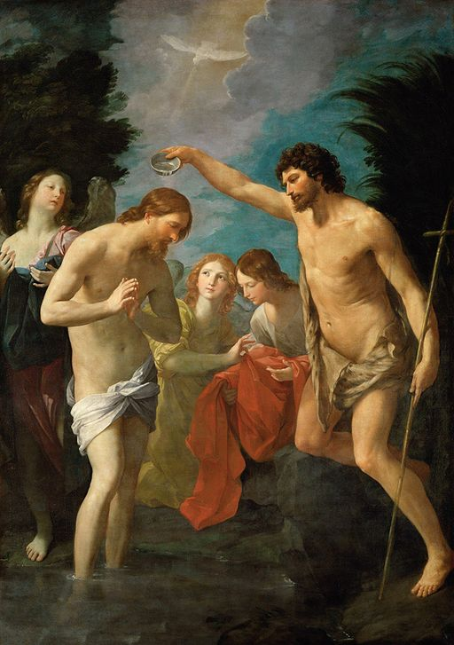 Guido Reni - Baptism of Christ (Kunsthistorisches Museum)