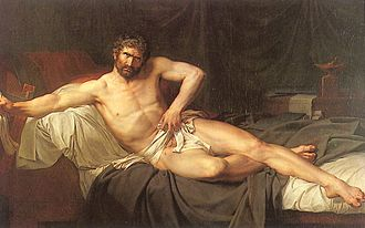 Guillaume Guillon-Lethière - Image: Guillaume Guillon Lethière The Death of Cato of Utica, 1795