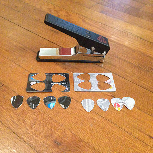 Guitar pick puncher - a punch to make guitar picks (by George Williams)