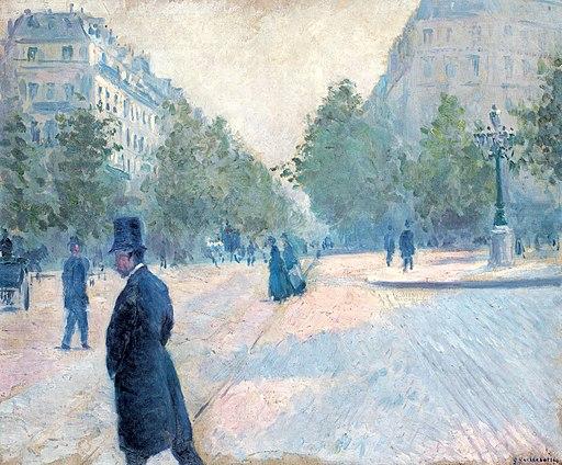 Gustave Caillebotte - La Place Saint-Augustin, temps brumeux