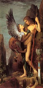 Gustave Moreau - Oedipus and the Sphinx - WGA16201.jpg