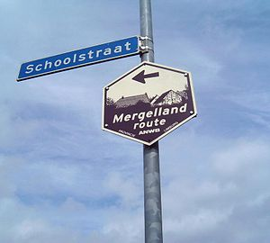 Hulsberg - Mergellandroute sign in Hulsberg