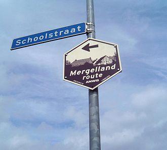 Hulsberg - Mergellandroute sign in Hulsberg
