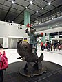 HK Lok Ma Chau MTR Station 落馬洲站 Bauhinia Rider sculpture Chinese Scuptor 蔣朔 Jiang Shuo Bronze statue March 2016 Concourse Level 3 DSC (3).JPG