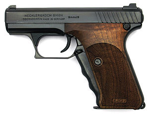 Heckler & Koch P7 - P7M8 with Karl Nill wood grips.