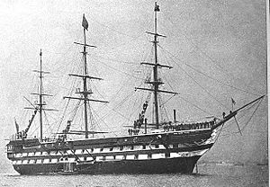 Sir Alexander Milne, 1st Baronet - The second-rate HMS ''Nile'', Milne's flagship when her commanded the  North America and West Indies Station in the early 1860s