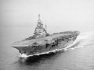 Barrow Blitz - Image: HMS Indomitable FL6374
