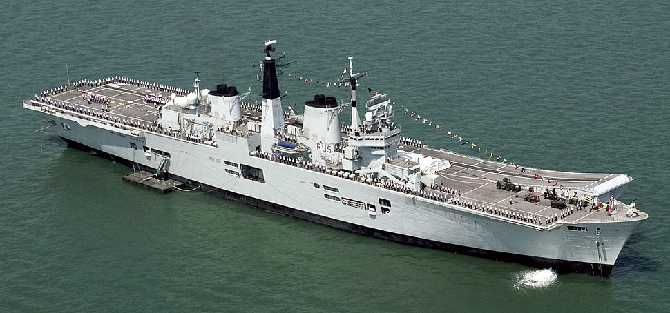 HMS Invincible During T200 Celebrations MOD 45144681 (cropped)