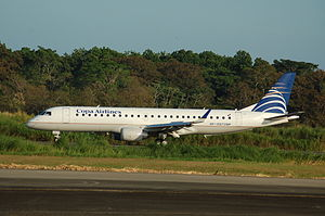 Copa Airlines - Embraer 190, mainly deployed for regional flights across Central America and Colombia.