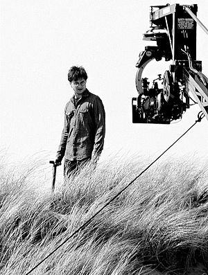Harry Potter and the Deathly Hallows – Part 1 - Daniel Radcliffe filming Dobby's death scene in Pembrokeshire, Wales.