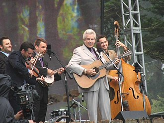 Del McCoury Band - Ronnie McCoury, Jason Carter, Robbie McCoury, Del McCoury, and Alan Bartram performing at the Hardly Strictly Bluegrass Festival, San Francisco, California in 2005.