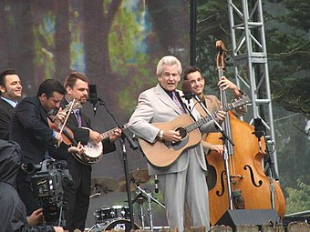 The 2006 award-winning group, Del McCoury Band, performing in 2005 HSB 2005 - Del McCoury Band.jpg