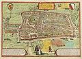 HUA-214006-Plattegrond van de stad Utrecht met directe omgeving met weergave van het stratenplan wegen watergangen de bebouwing in vogelvlucht en het grondgebrui.jpg