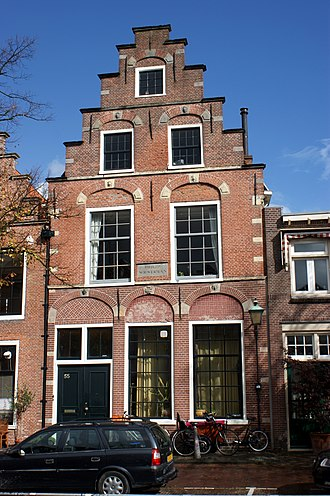 Philips Wouwerman - Renaissance revival home built on the spot of Wouwerman's former house, with a gable stone on the facade commemorating him