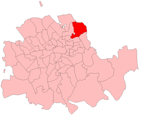 Hackney South by-election, 1912 - Hackney South in London, 1912