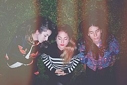 Haim in Los Angeles, März 2012 (von links: Alana, Este, Danielle)