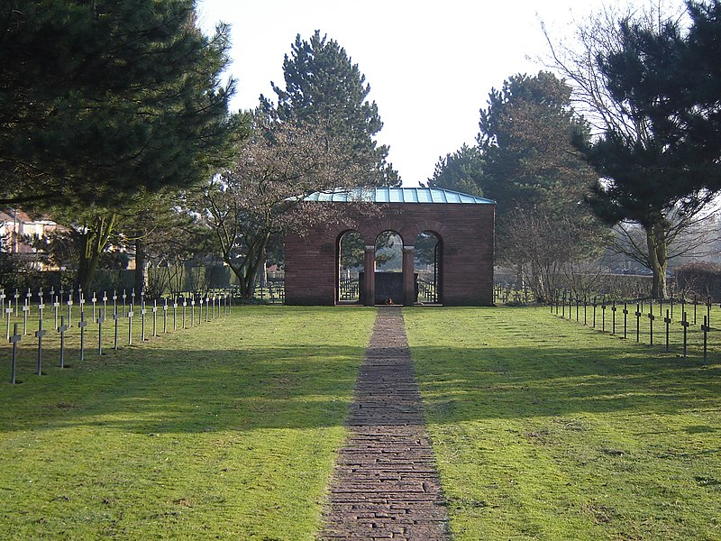 Deutscher Soldatenfriedhof Halluin in Halluin. Halluin, Nord, Nord-Pas-de-Calais, France
