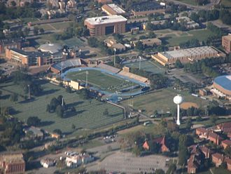 Hampton University - Aerial view of Hampton University