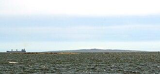 Hanö - Hanö at the horizon, seen from the coast of Blekinge.