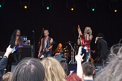 Hanoi Rocks beim Scarborough Rock in the Castle Festival 2005
