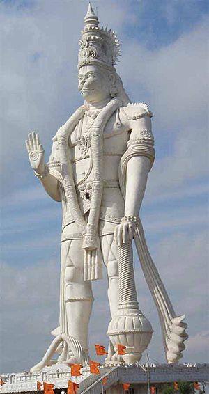 Paritala Anjaneya Temple - Lord Hanuman Statue in Paritala is the tallest in India.