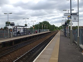 Harringay Green Lanes railway station - Image: Harringay Green Lanes stn look east