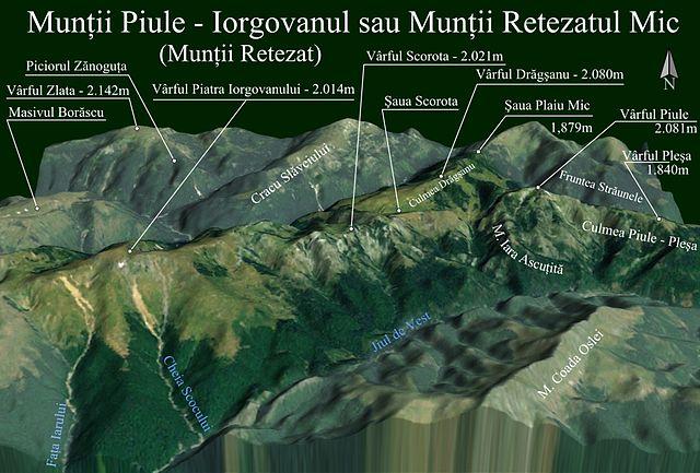 File Harta 3d Pentru Retezatul Mic Din Muntii Retezat Romania Jpg