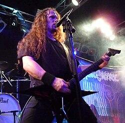 Vocalista / guitarrista Erik Rutan en 2009
