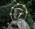 Havířov, Životice, socha sv. Jana Nepomuckého před zámkem (2).JPG