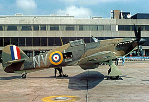 No. 79 Squadron RAF - Hawker Hurricane IIC wearing the 'NV' wartime code marks of No.79 Squadron