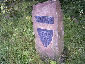 Hessisch Lichtenau - Stone with Hessisch Lichtenau's coat of arms