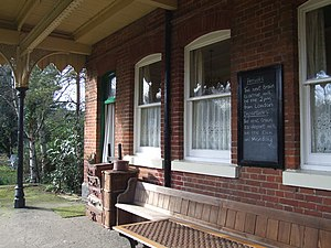 Heacham railway station - Former waiting rooms on platform 2 of the old station, now converted into holiday accommodation.