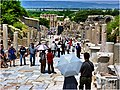 Hefes Harabeleri - Yet so many people on this marble road after 2500 years - panoramio.jpg