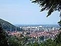 Heidelberg Panorama mit den Vogesen am Horizont, Aufnahme vom höchsten Punkt in Ziegelhausen .JPG