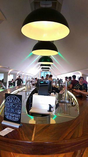 Heineken Experience - Indoor bar on the top floor for ticket holders of the experience.